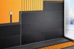 Schlüter-DITRA-HEAT-E ist eine flache Elektro-Heizung für Wand und Boden.