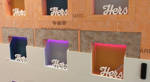 Schlüter-KERDI-BOARD-NLT with different LED colours
